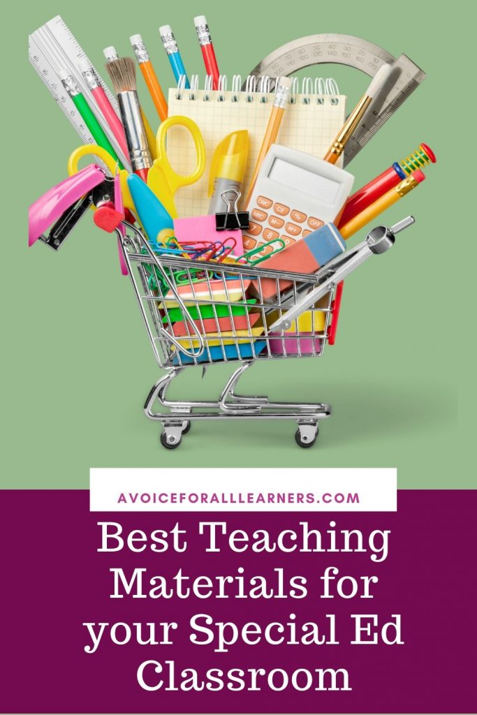 Best teaching materials for special education classroom