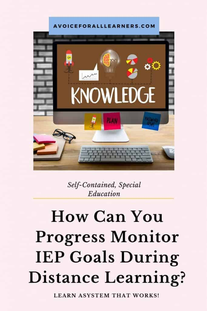 Learn an effective strategy to gather data for progress monitoring on IEP goals during distance learning for your self-contained, special education students.