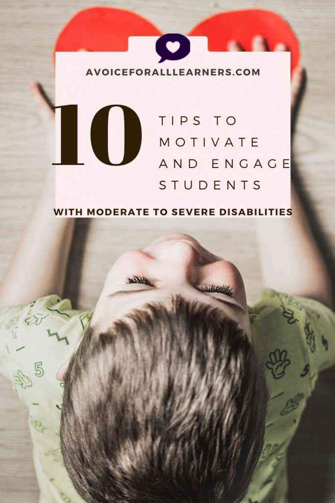 Here are the best tips from special educators to motivate and engage students with moderate to severe disabilities in a self-contained, special education classroom.