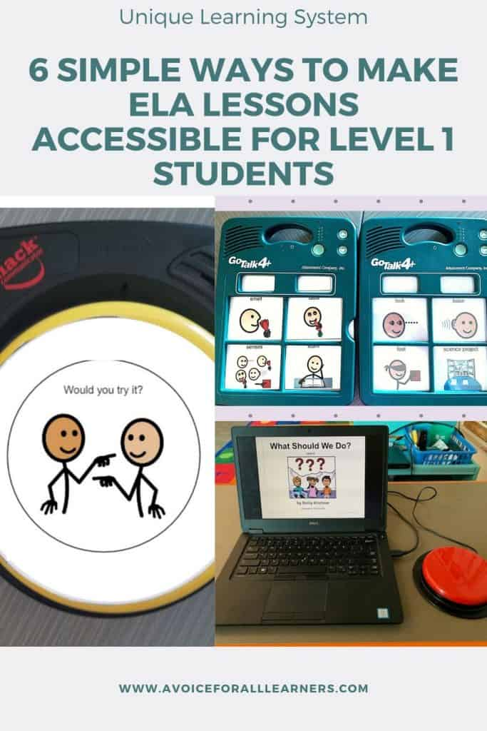 Learn how to engage students with moderate to severe disabilities in ELA lessons within the Unique Learning System, ULS for your self-contained, special education classroom.