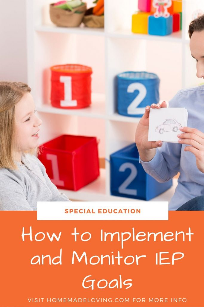 How to progress monitor and provide instruction on IEP goals in the special education, self-contained classroom.