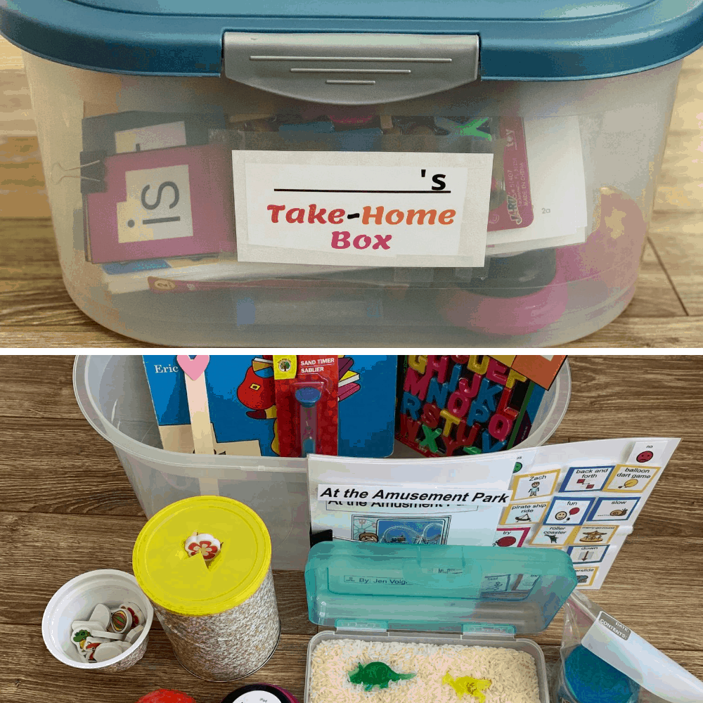 Create taske-home boxes for individual special education students to provide practice at home.