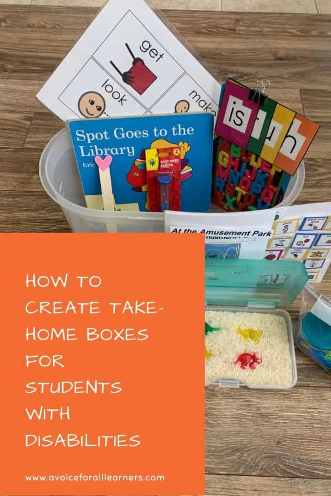 Learn how to create materials to practice skills at home for special education students with significant disabilities.